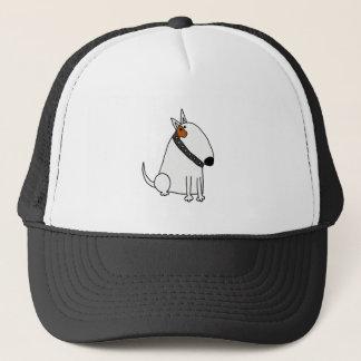 Funny Bull Terrier Dog Art Trucker Hat