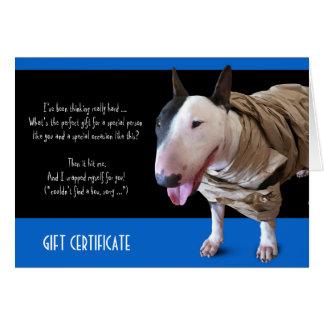 Funny Bull Terrier Gift Card