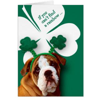 Funny Bulldog. St. Patrick's Day Fun Greeting Card