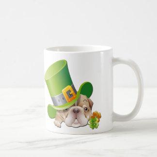Funny Bulldog. St. Patrick's Day Gift Mug