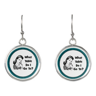 Funny Bunco Earrings _ What Table Do I Go To?