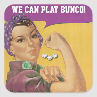 Funny Bunco Sticker - We Can Play Bunco!