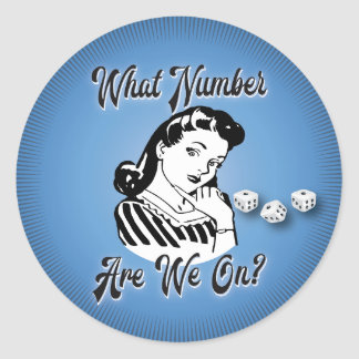 Funny Bunco Sticker - What number are we on?