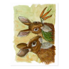 funny bunnies-little gift for you by schukina 529 postcard