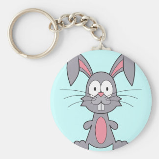 Funny Bunny Basic Round Button Key Ring