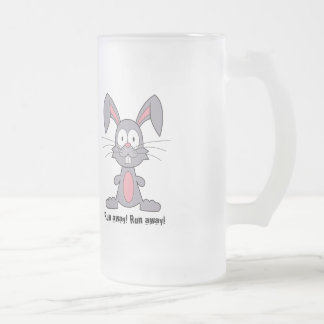 Funny Bunny Frosted Glass Mug