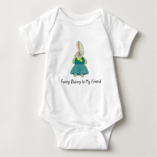 Funny bunny is my friend kids suit baby bodysuit