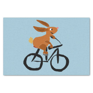 Funny Bunny Rabbit on Bicycle Tissue Paper