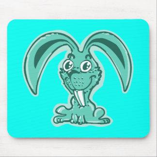 funny bunny sweet rabbit cartoon mouse pad