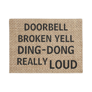 Funny Burlap Doormat