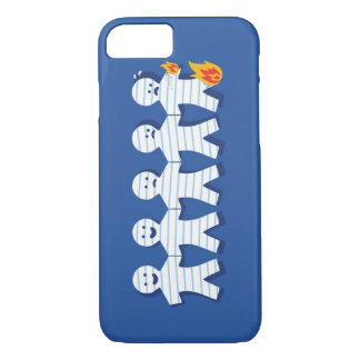 Funny Burning Paper People Chain iPhone 8/7 Case