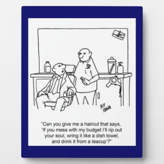 Funny Business Budget Easel Plaque