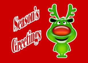 Funny business christmas cards zazzle funny business christmas reindeer holiday card colourmoves