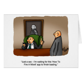 Funny Business Humor Greeting Card