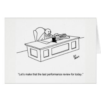 """Funny Business Humor """"Thanks"""" Greeting Card"""