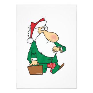 funny businessman santa claus cartoon invite