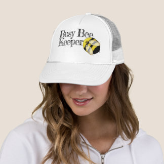 Funny Busy Bee Keeper Trucker Hat