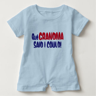 "Funny ""But Grandma Said I Could"" Baby Bodysuit"