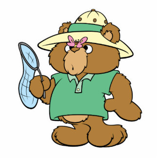 Funny Butterfly Catcher Bear Cut Out