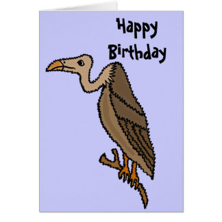 Funny Buzzard Birthday Card