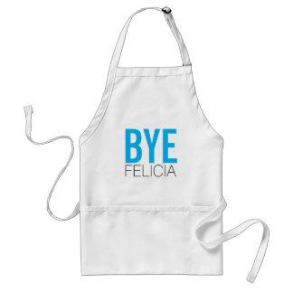 Funny BYE Felicia in Blue Standard Apron