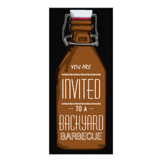 Funny BYOB Beer Bottle BBQ Party Invitation