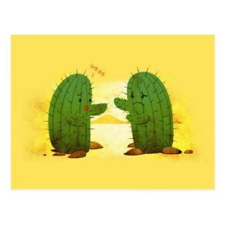 Funny Cactus Hug Postcard