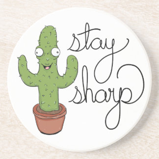 Funny Cactus Stay Sharp Character Coaster
