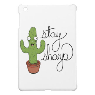 Funny Cactus Stay Sharp Character iPad Mini Covers
