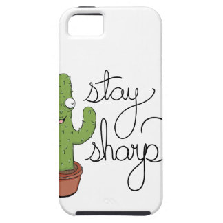 Funny Cactus Stay Sharp Character Tough iPhone 5 Case