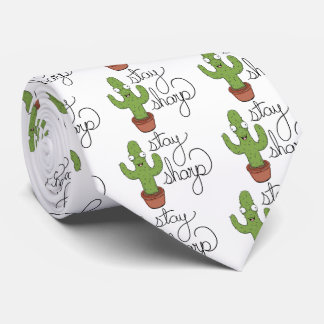 Funny Cactus Stay Sharp Shirt Tie
