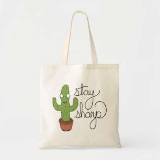 Funny Cactus Stay Sharp Tote Bag