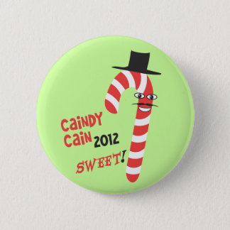 Funny CAINdy CAIN - Herman Cain 2012 for President 6 Cm Round Badge