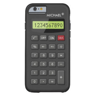 Funny Calculator Pattern Personalized Geeky Tough iPhone 6 Case