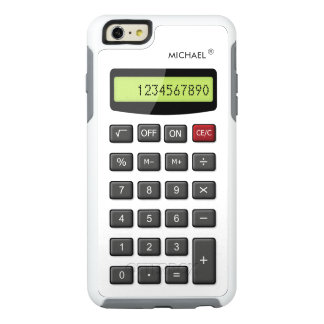 Funny Calculator Pattern with Custom Text OtterBox iPhone 6/6s Plus Case