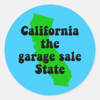 Funny California Round Sticker