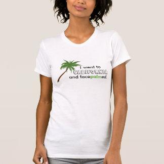 Funny California Vacation Palm Tree Pun Travel Shirts