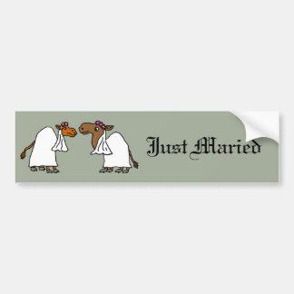 Funny Camel Wedding Gay Brides Bumper Sticker