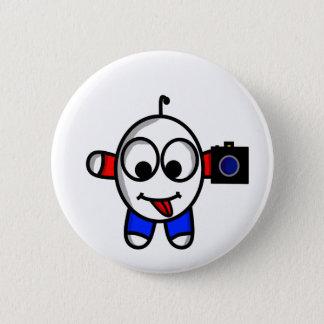funny camera dude 6 cm round badge