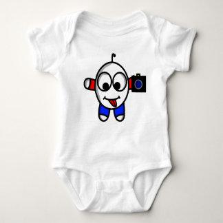 funny camera dude baby bodysuit