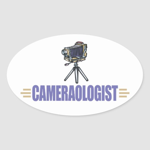 Funny Camera Oval Stickers