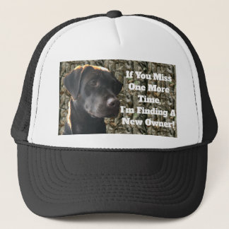 Funny Camo Chocolate Hunting Lab Quote Trucker Hat