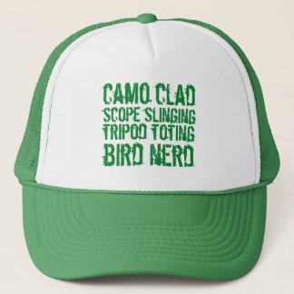 Funny Camo Clad Tripod Toting Bird Nerd Trucker Hat