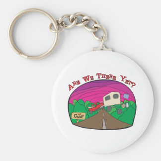 Funny Camping Basic Round Button Key Ring
