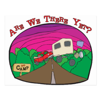 Funny Camping Postcard