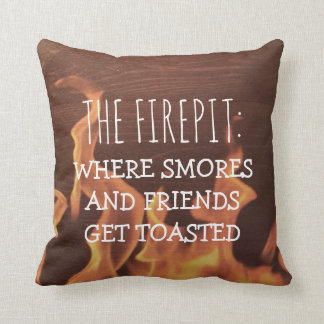 Funny Camping Saying | Camper Firepit Smores Cushion