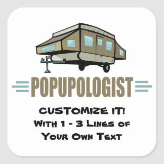 Funny Camping Square Sticker