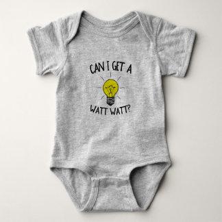 Funny Can I Get a Watt Watt Baby Bodysuit