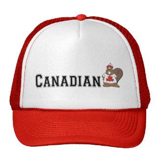 Funny Canadian Beaver Trucker Hats