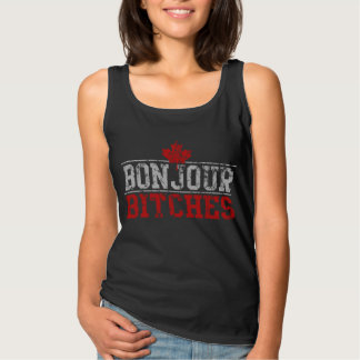 Funny Canadian 'Bonjour Bitches' Singlet